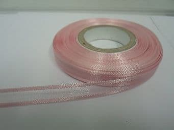 10mm Edged Organza Ribbon 2 metres or 25 metre roll double sided Satin UK